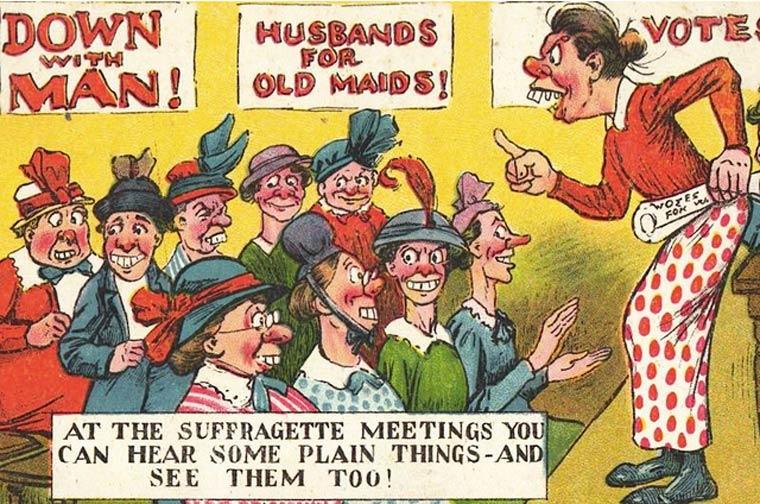 L'incroyable propagande contre le vote des femmes des années 1900 – 1914