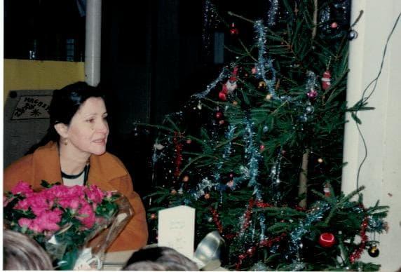 Elisabeth Motsch et l'arbre de Noel