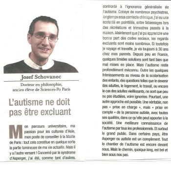 article de josef schovanec